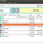 Gparted, éditeur de partitions de disque