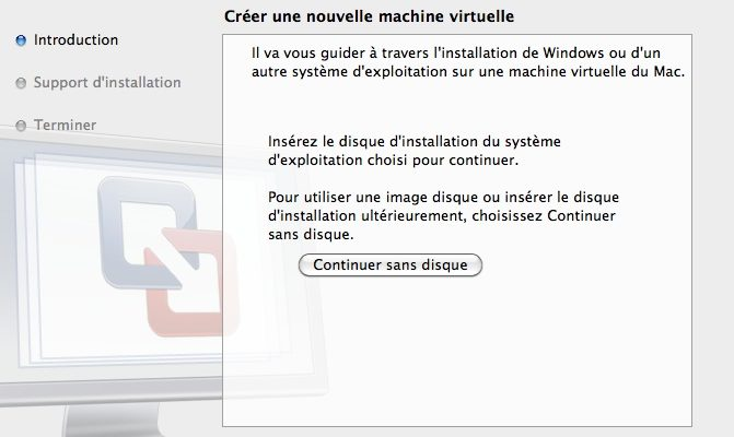 Windows 7 en virtuelle sur Mac Os X